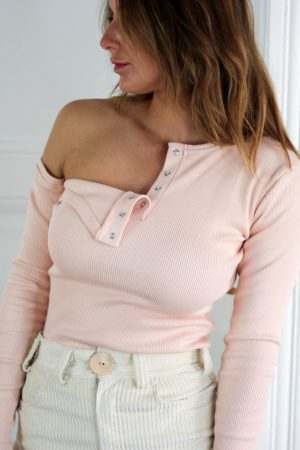 Button up blouse - Roze