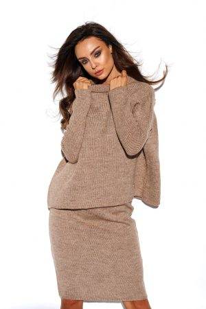 Knitted sweater set - Taupe